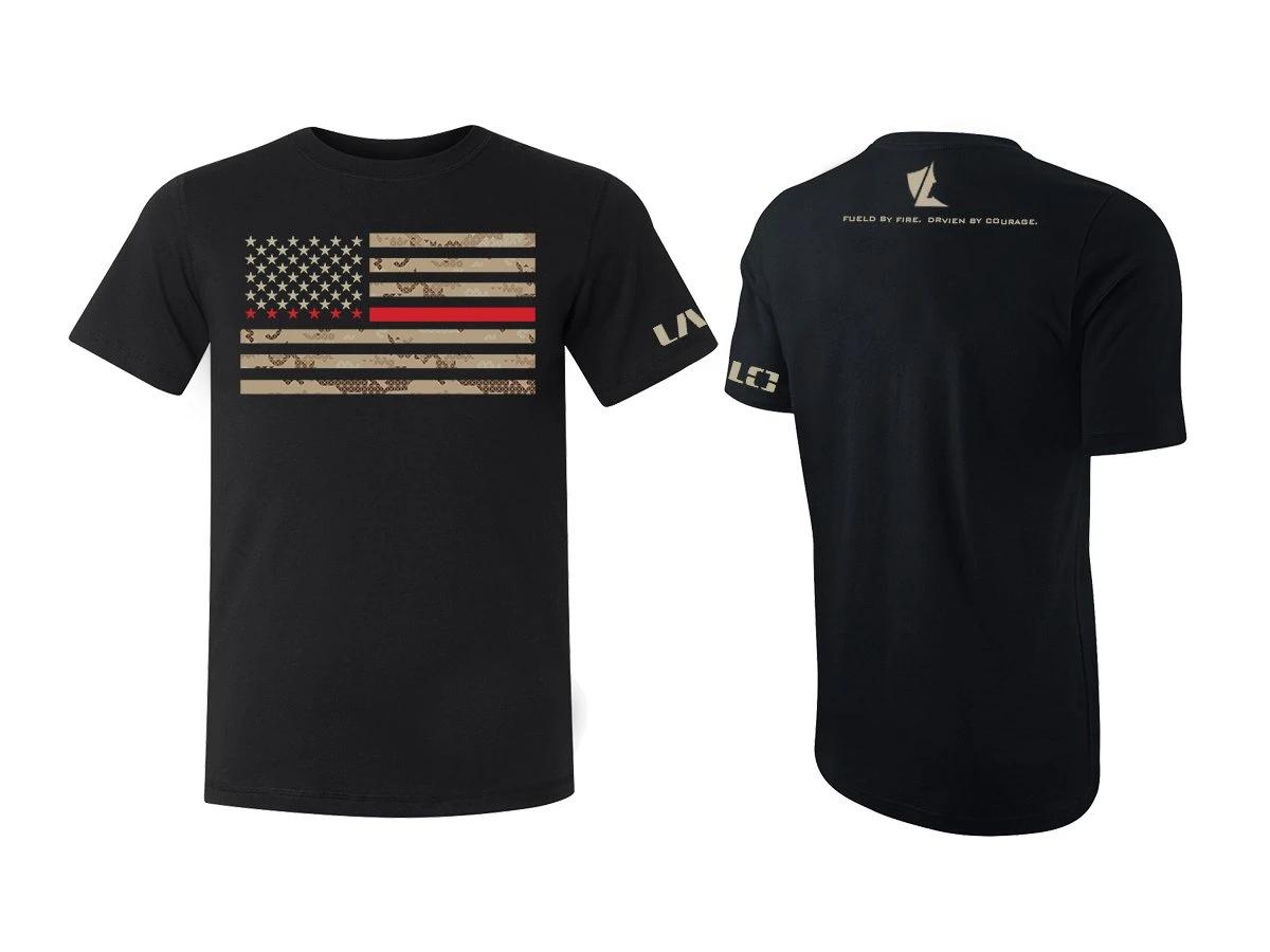חולצת LALO דגל אמריקה מפוזר